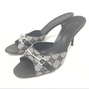 Vintage Gucci Black Horsebit Sandals Women's 38.5
